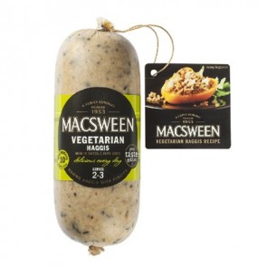 Macsween Vegetarian Haggis serves 2-3 (nominal weight 454g)